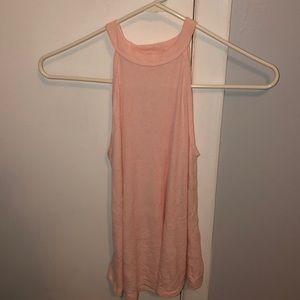 light pink halter top